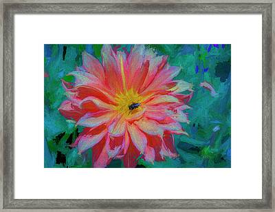 Framed Print featuring the photograph Flower And Bee by Bill Posner
