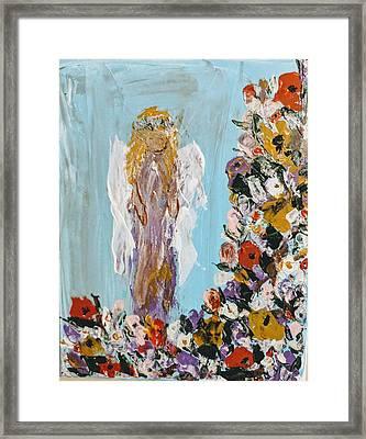 Flower Child Angel Framed Print
