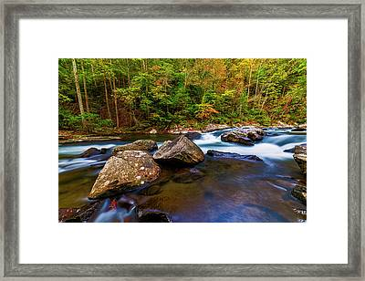 Framed Print featuring the photograph Flowing Waters by Andy Crawford