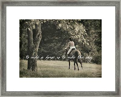 Fly Like Pegasus Quote Framed Print by JAMART Photography