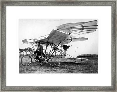 Flying Cycle Framed Print by Hulton Archive