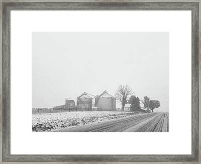Foggy Farm Framed Print