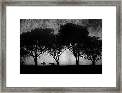 Foggy Morning Ride Framed Print