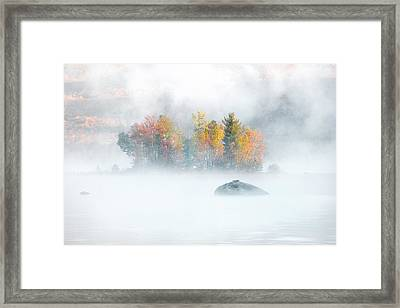Framed Print featuring the photograph Foliage Burst At Leffert's Pond Vermont by Expressive Landscapes Fine Art Photography by Thom