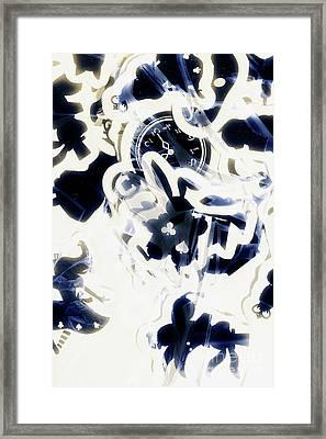 Follow The Blue Rabbit Framed Print