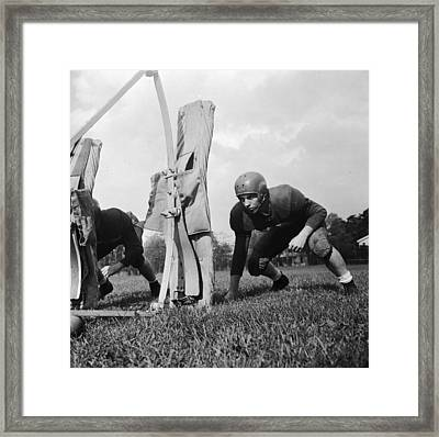 Football Training Framed Print