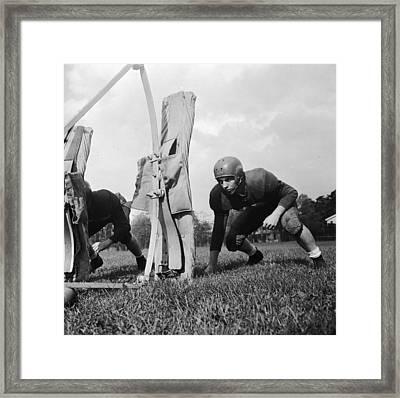 Football Training Framed Print