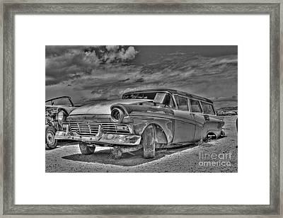 Ford Country Squire Wagon - Bw Framed Print