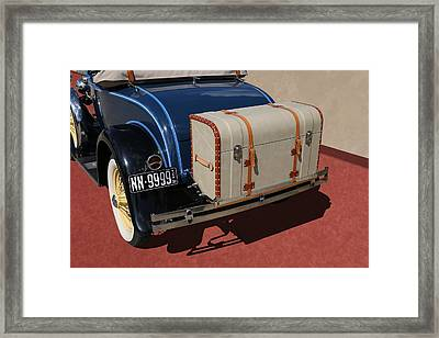 Framed Print featuring the photograph 1931 Ford Model A Roadster by Debi Dalio