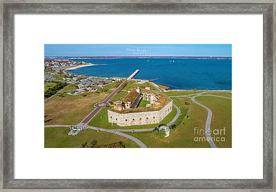 Framed Print featuring the photograph Fort Tabor Or Fort Rodman by Michael Hughes