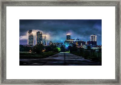 Framed Print featuring the photograph Fort Worth Lights by David Morefield