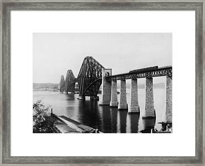 Forth Railway Bridge Framed Print by Hulton Archive