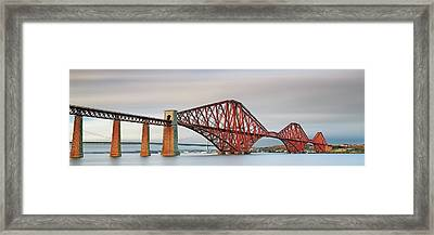 Framed Print featuring the photograph Forth Railway Bridge - South Queensferry by Grant Glendinning
