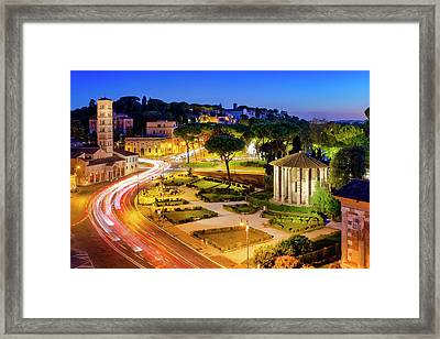 Framed Print featuring the photograph Forum Boarium by Fabrizio Troiani