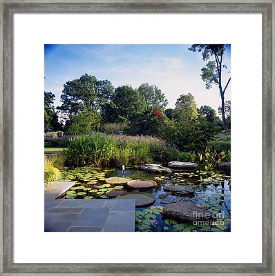 Fountain In Pond With Victorian Water Photograph By Richard Felber