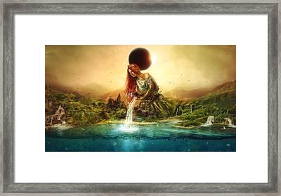 Fountain Of Eternity Framed Print