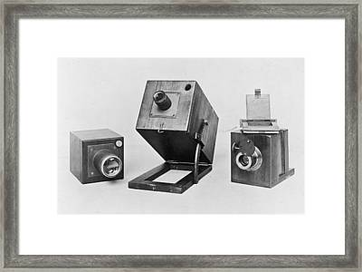 Fox Talbots Camera Framed Print by Spencer Arnold Collection
