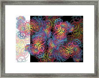 Fractal Illusion Framed Print