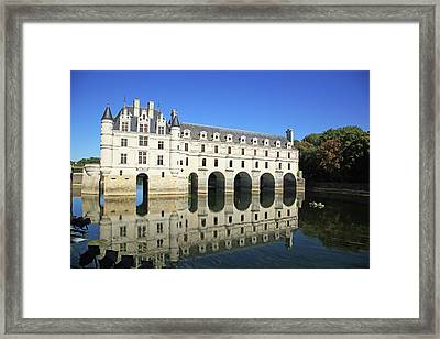 France, Chateau De Chenonceau Framed Print