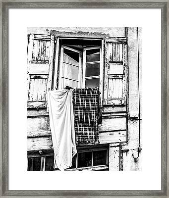 Franch Laundry Framed Print
