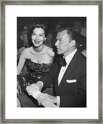 Frank & Ava Framed Print by Archive Photos