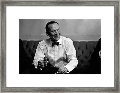 Frank Sinatra Backstage At The Sands Framed Print