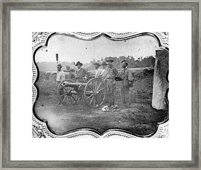 Free-state Battery Framed Print by Hulton Archive