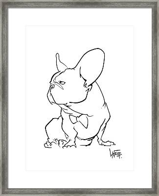 French Bulldog Gesture Sketch Framed Print