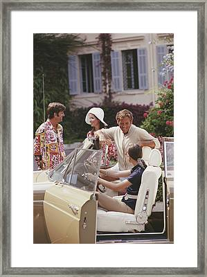 French Holiday Framed Print