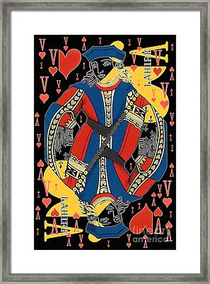 French Playing Card - Lahire, Valet De Coeur, Jack Of Hearts Pop Art - #2 Framed Print