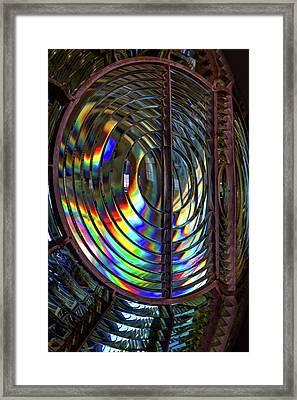 Fresnel Lens Point Arena Lighthouse Framed Print