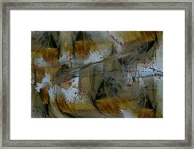 Framed Print featuring the digital art From Fall To Winter by Roy Erickson