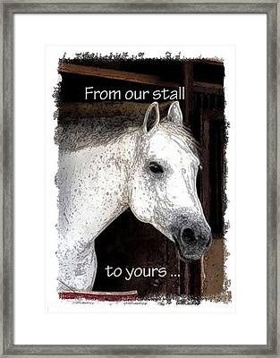 Framed Print featuring the photograph From Our Stall To Yours by Jerry Sodorff