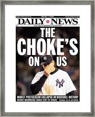 Front Page Of The New York Daily News Framed Print by New York Daily News Archive