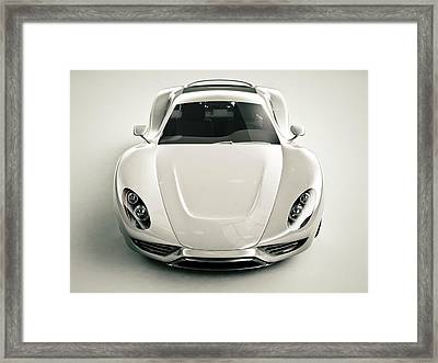 Front View Of A Sports Car Framed Print by Mevans