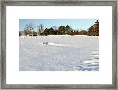 Frost Delay Framed Print