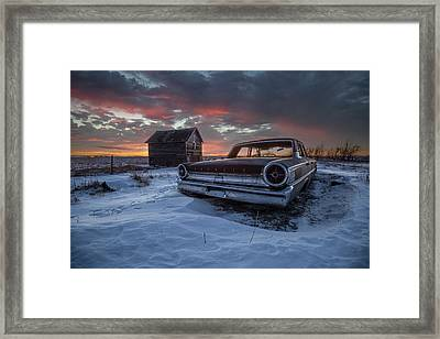 Framed Print featuring the photograph Frozen Galaxie 500  by Aaron J Groen