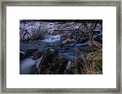 Frozen River II Framed Print