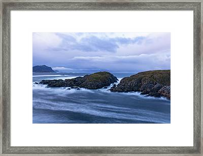 Frozen Water Movement Framed Print
