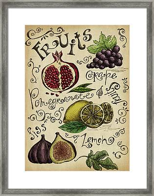 Fruits Framed Print by Kalistratova
