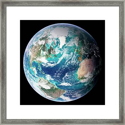 Full Earth, Close-up Framed Print by Science Photo Library - Nasa Earth Observatory
