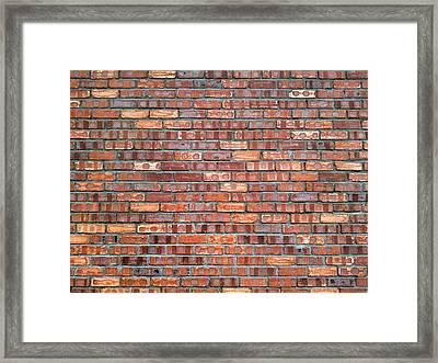 Full Frame Of Wall Framed Print by Larrie Chua / Eyeem