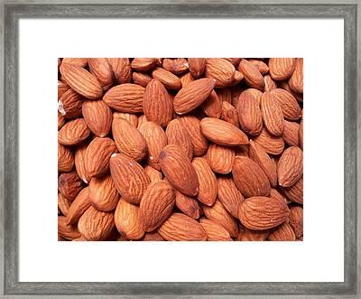 Full Frame Shot Of Almonds Framed Print by Frank Schiefelbein / Eyeem