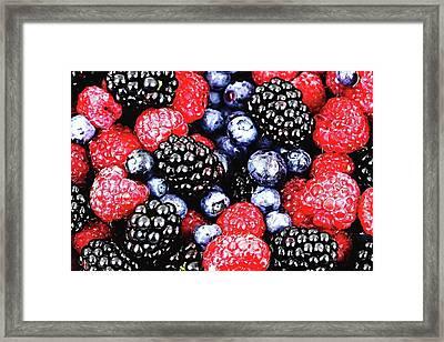 Full Frame Shot Of Fresh Fruits Framed Print by Piergiuseppe Corvino / Eyeem