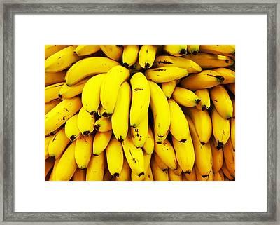 Full Frame Shot Of Yellow Bananas Framed Print by Daisy De Los Angeles / Eyeem