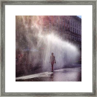 Full Length Of A Young Woman Walking In Framed Print by Daniel Kriebel / Eyeem