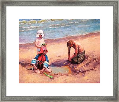 Fun At Jersey Valley Framed Print