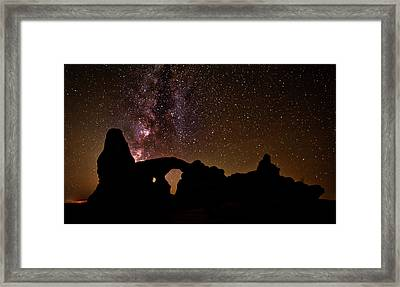 Framed Print featuring the photograph Galactic Turret Arch by Andy Crawford