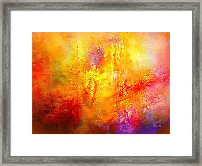 Galaxy Afire Framed Print