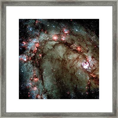 Framed Print featuring the photograph Galaxy M83 Star Birth Outer Space Image by Bill Swartwout Fine Art Photography